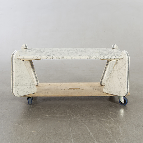 A marble top coffee table germany 1980's.