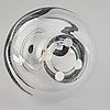 A ulrica hydman-vallien glass sculpture, kosta boda, signed and numbered 55/250.