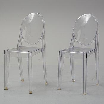 """Phillipe Starck, stolar, ett par, """"Victoria Ghost"""", Kartell."""