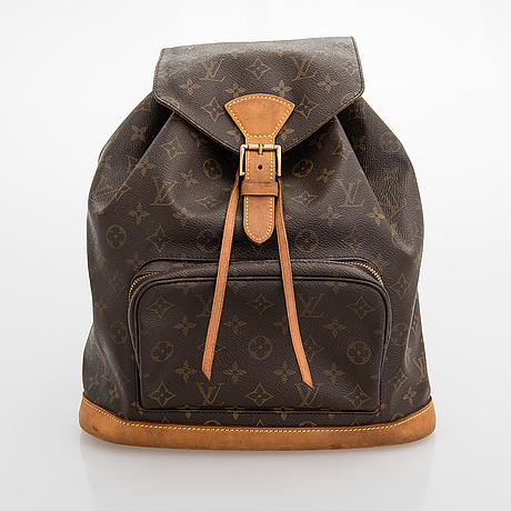 "Louis vuitton, ""montsouris"", ryggsäck."