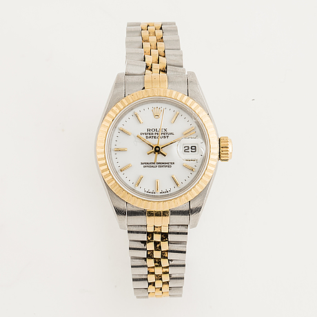 Rolex, oyster perpetual, datejust, chronometer, wristwatch, 26 mm.