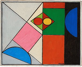 "511. Vilhelm Bjerke-Petersen, ""Dubbelt center""."