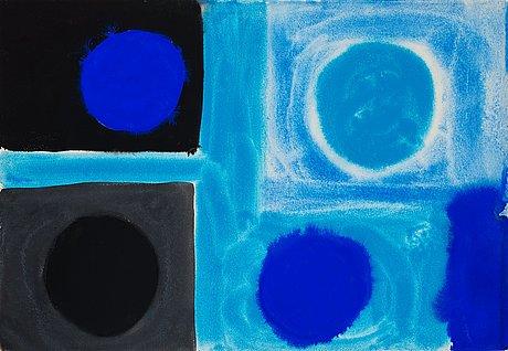 "Patrick heron, ""small blues (4 discs)""."