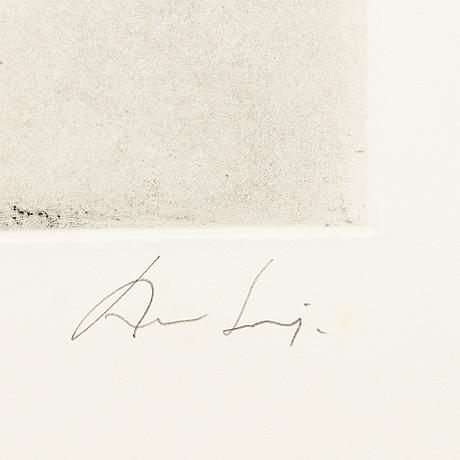 August puig, etsning, signerad, e.a.-upplaga.