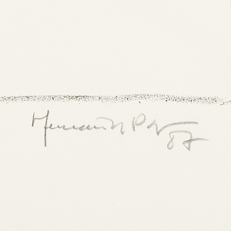 Joan hernández pijuan, a signed, dated and numbered lithograph.