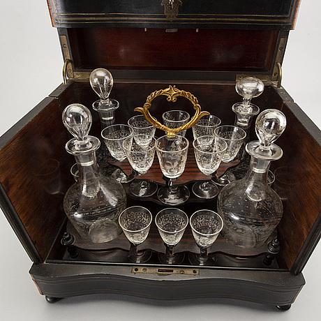 A liqueur cabinet france around 1900.