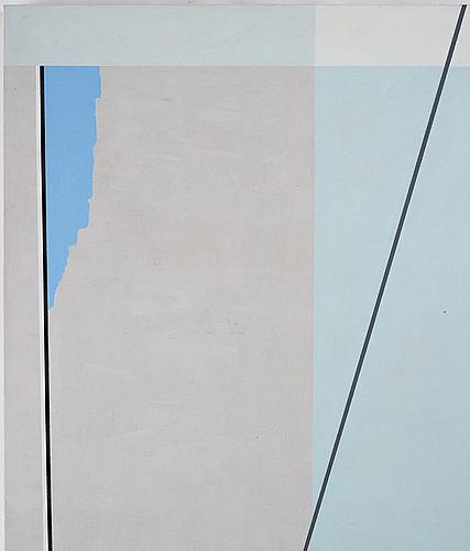 Jorma hautala, acrylig on canvas laid down on panel.