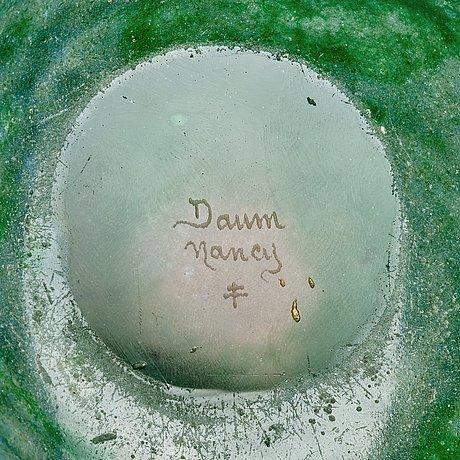 Daum, a cameo glass bowl, nancy, early 1900's.
