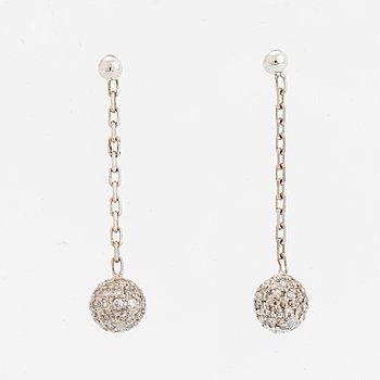 Eight-cut diamond ball earrings.