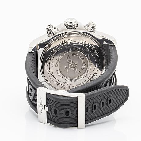 Breitling super avanger, chronometer, chronograph, wristwatch, 44,8 mm.