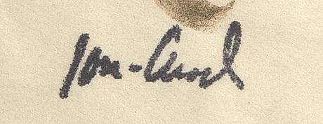 John jon-and, blandteknink, signerad.