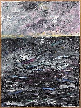 Madeleine Pyk, oil on canvas singed.