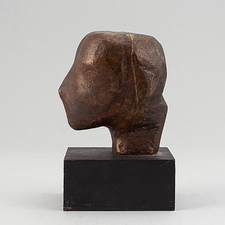 Torsten renqvist, skulptur. brons. osignerad. upplaga 20 st. total höjd 17 cm.