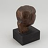 Torsten renqvist, sculpture. bronze. unsigned. edition of 20. total height 17 cm.