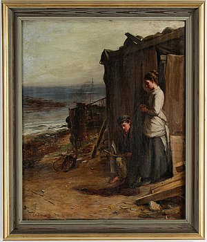 James Campbell Noble, oil on canvas, signed and dated 1876.