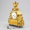 A french mantle clock, early 19th century.