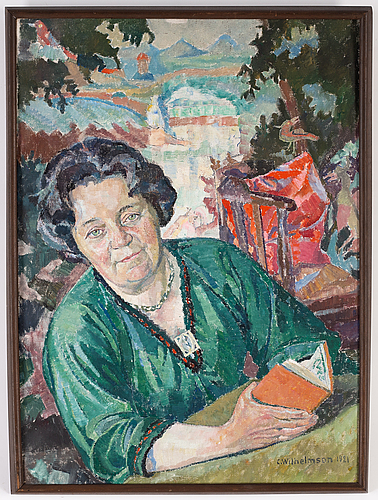 Carl wilhelmson, oil on canvas, signed and dated 1921.