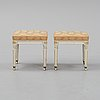 A pair of gustavian style stools from the late 1800's.