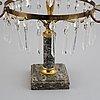 A gustavian style three-light girandole, first half of the 20th century.
