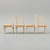 Four gustavian style chairs from the second half of the 19th century.