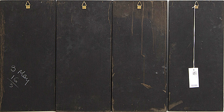 A st of four japanese 20th century panels.