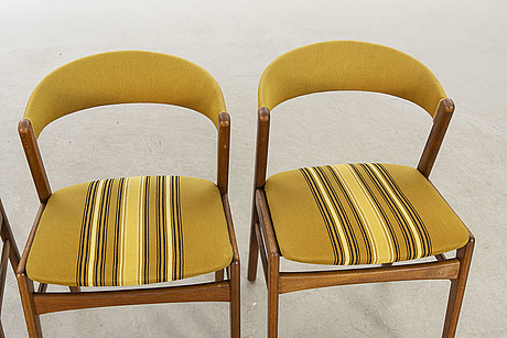 A set of three danish chairs.
