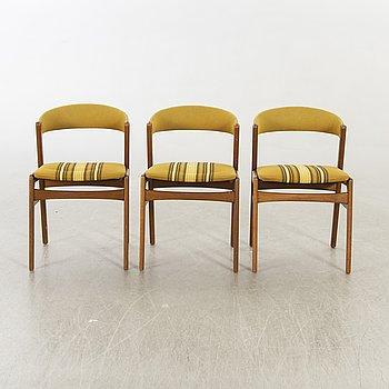 A set of three danish chairs.