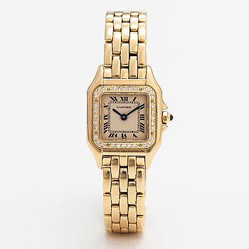 Cartier Panthére, wristwatch, 22 x 22 mm.