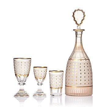 330. A Kosta 'Odelberg' glass service, 20th Century. (41 pieces).