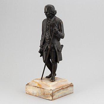 Jean Claude François Rosset, efter. Skulptur. Brons på stenbas. Höjd 38 cm.