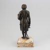 Jean claude françois rosset, after. sculpture. bronze in stone base. height 38 cm.