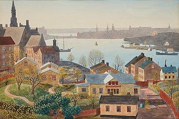 512. Oskar Bergman, View over Stockholm from Åsöberget, Södermalm.