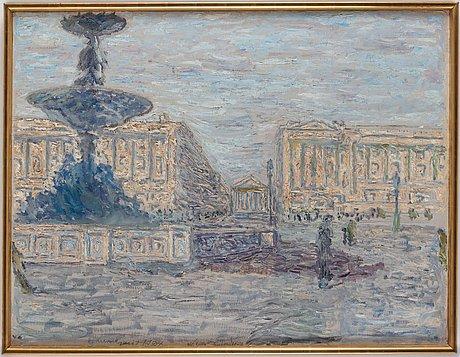 """Evert lundquist, """"place de la concorde""""."""