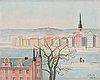Einar jolin, a view from skeppsholmen against gamla stan.