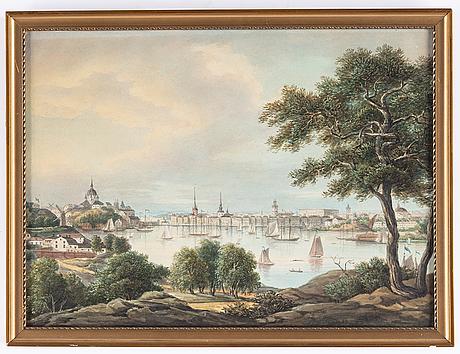 Awdish artist 19th century. unsigned. watercolour 26.5 x 36 cm.