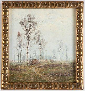 Aleksey Alexandrovich Pisemsky, oil on panel, signed.