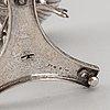 Adolf zethelius, sockerskålar, 2 st snarlika, silver, stockholm 1812 + 1819.