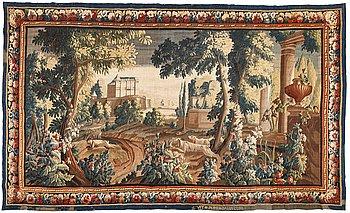 "273. A tapestry, ""Verdure"", tapestry weave, ca 300-307 x 500,5-506 cm, signerad VIT*M*R*D'AUBVSSON."