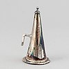 An english 19th century silver-plated chamber-candlestick. unmarked.