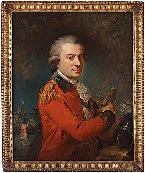 """532. French school 18th Century. """"Comte Pierre-André de Suffren de Saint-Tropez"""" (1729-1788) (According to a label verso)."""
