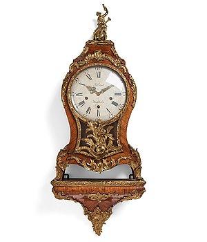 100. A Swedish Rococo bracket clock by Petter Ernst (1753-84).