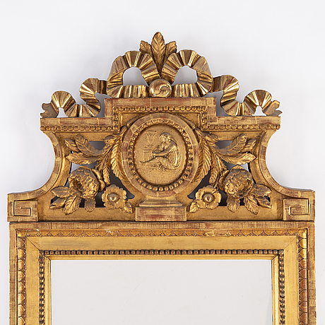 A gustavian mirror, stockholm, late 18th century.
