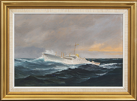 Carl wallin, oil on canvas signed.