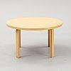 Alvar aalto, a birch coffee table, artek, finland.