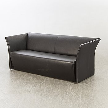 An Italien leather sofa, later part of the 20th century.