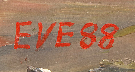 Eve eriksson, olja på duk, signerad och daterad 88.