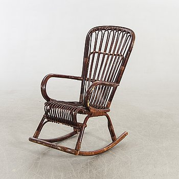 An Italian rocking chair later part of the 20th century.
