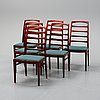 Bertil fridhagen, a set of 6 'reno' chairs, second half of the 20th century.