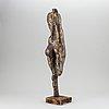 Anna mizak, a bronze sculpture, signed and dated 1974.