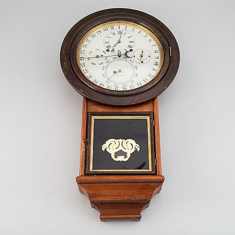 A gale's patent calendar clock, 1870's/1880's.